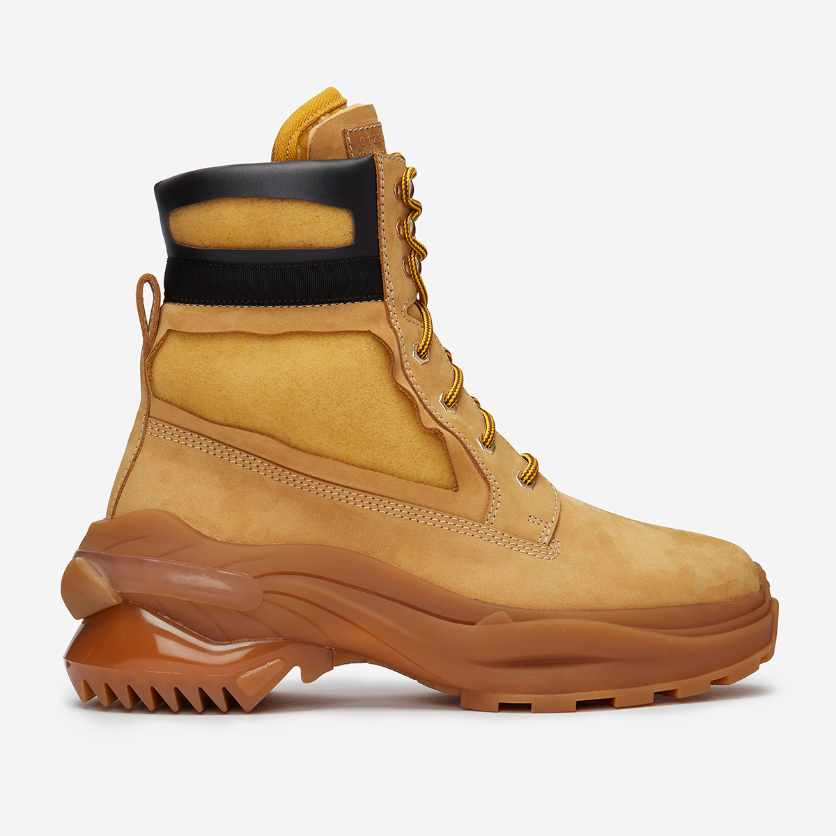 Maison Margiela mens shoes in mustard yellow