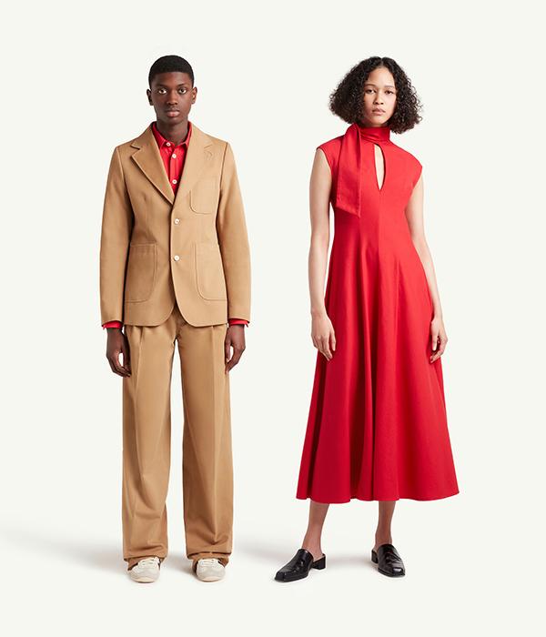 Wales Bonner Menswear and Womenswear Models