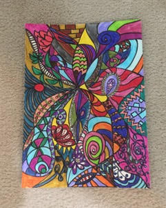 Eruption of Color, Lines and Shapes