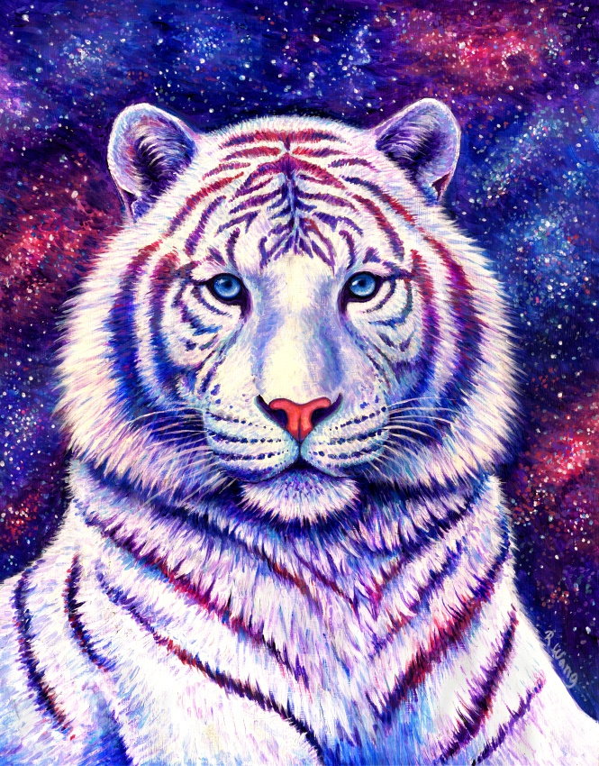 Among the Stars - Cosmic White Tiger