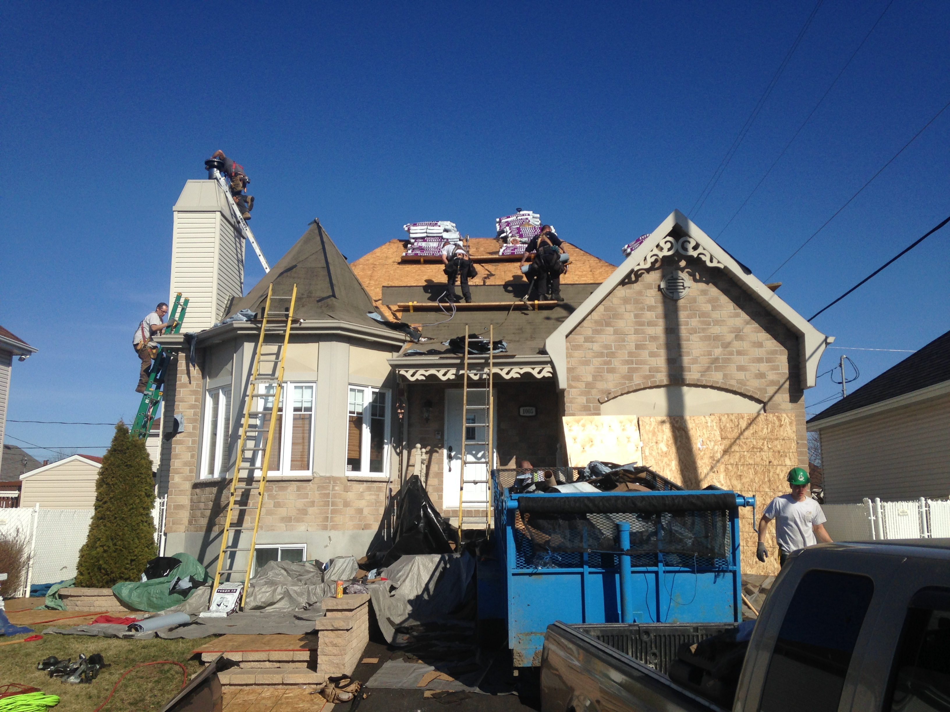 Rénovation d'un toit de maison