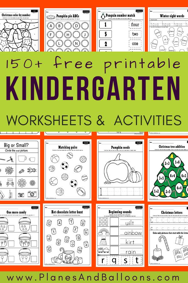 Covered At Home⎪400 Free Kindergarten Worksheets