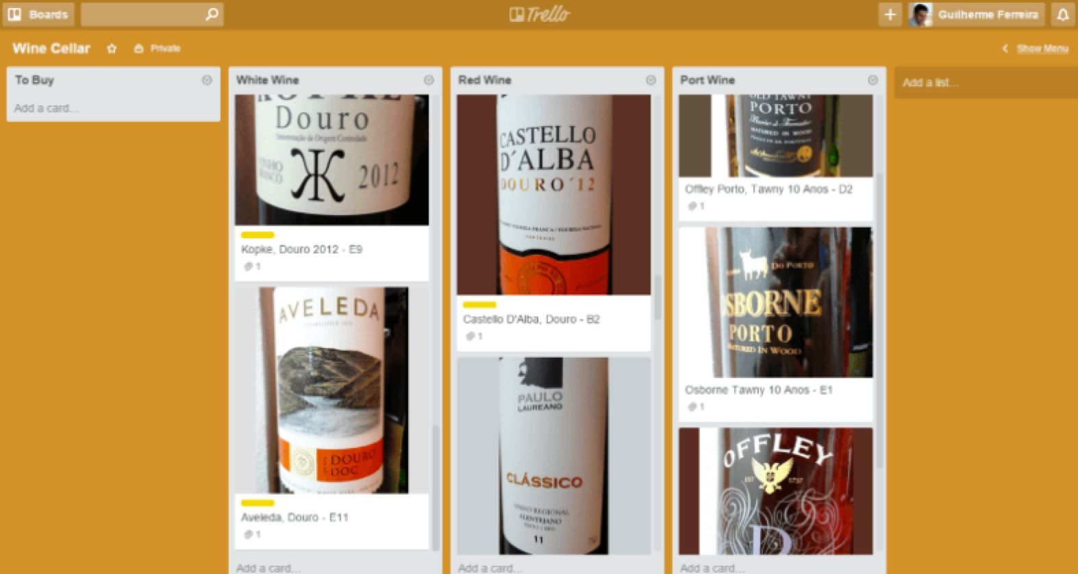 Trello hobbies template