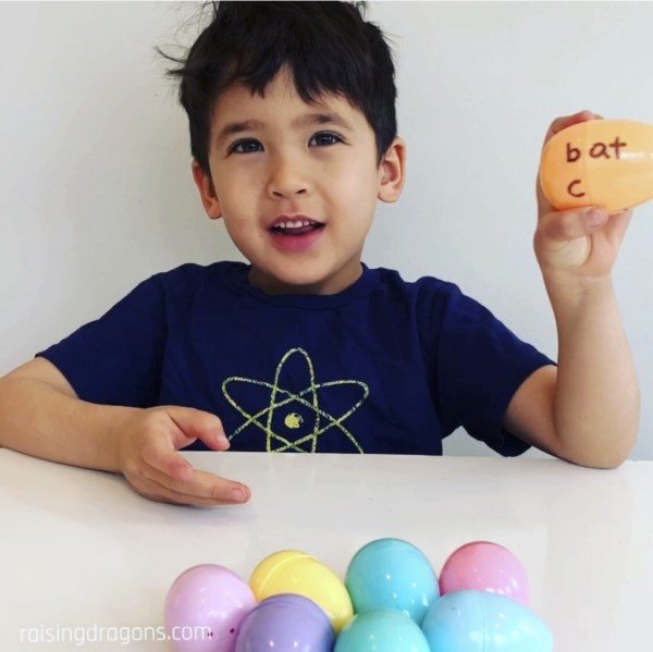 Spin and Spell Easter Egg Game