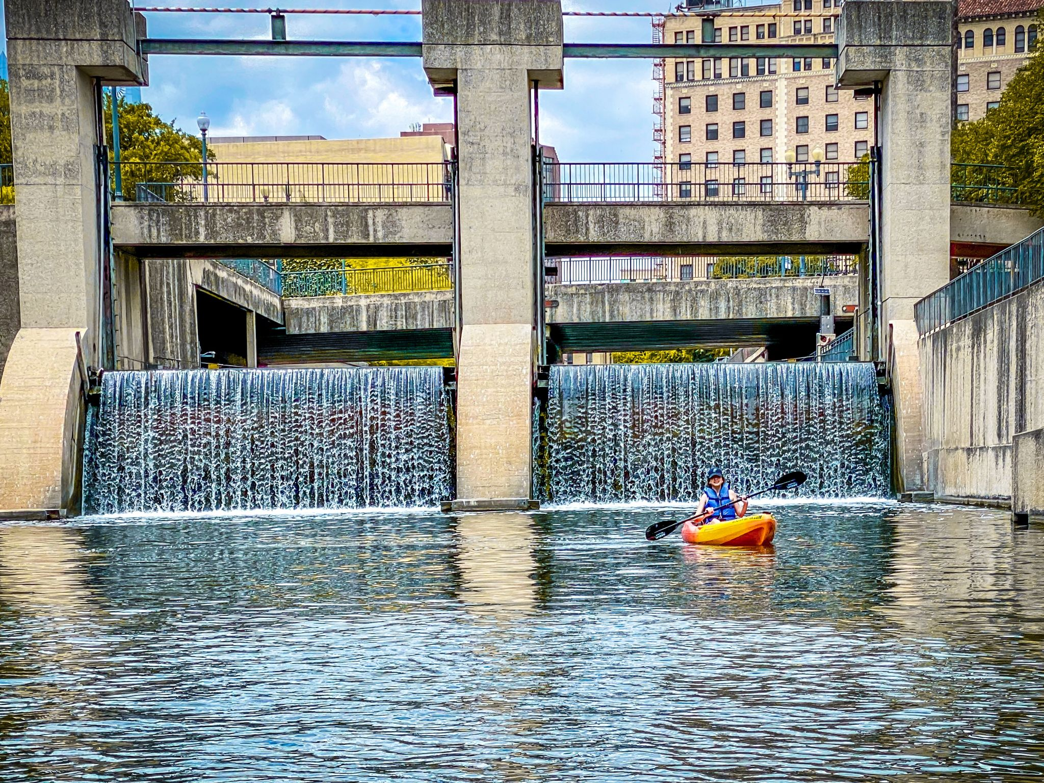Our trip lasted from 1 to 3 p.m. In that time, we encountered three other groups of kayakers.