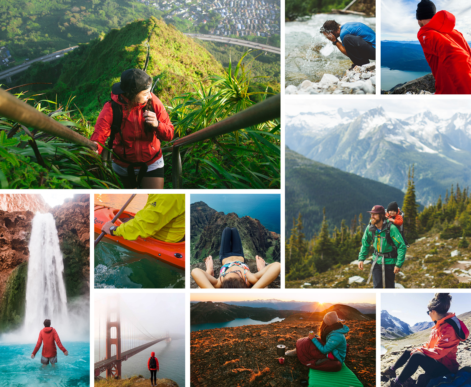 Grid of Westcomb ambassadors on their travels