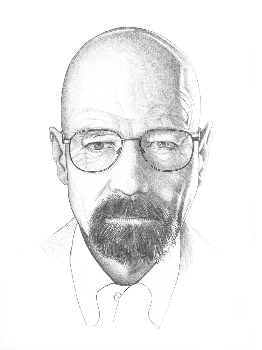 Pencil portrait illustration
