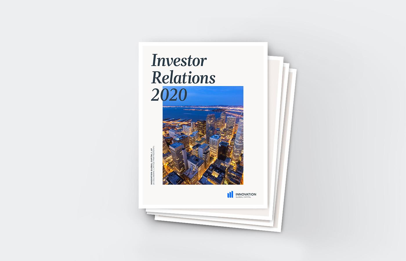 Innovation Global Investor Relations document