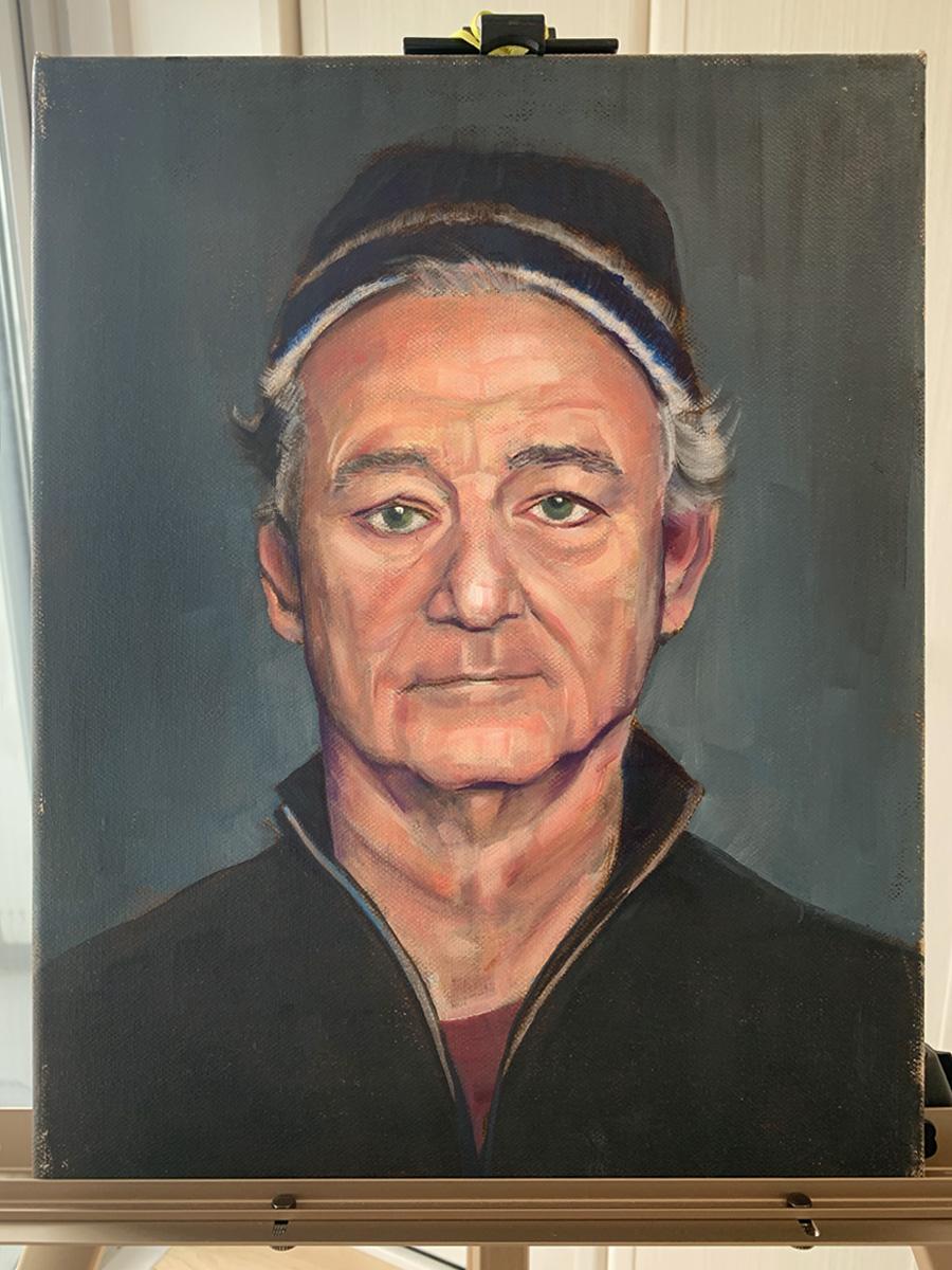 Oli Painting of Bill Murray