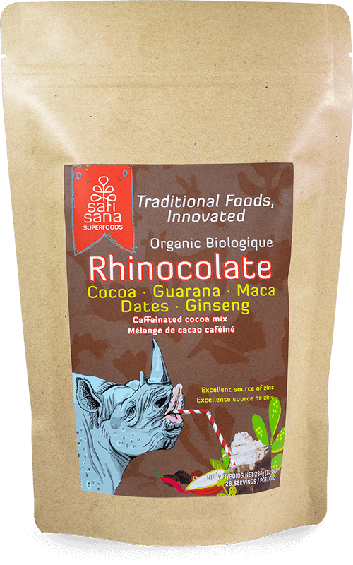 Front label on two week supply of Rhinocolate.