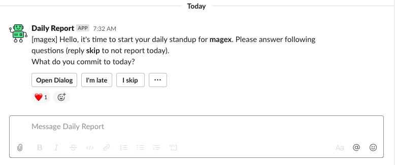 daily report tại Magestore
