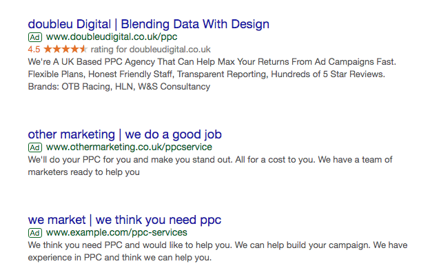 example of how ppc ads are displayed