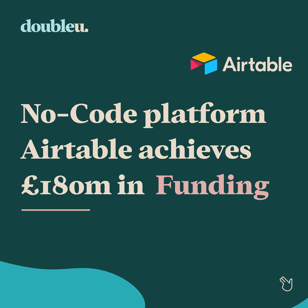 Infographic of Airtable receiving $180m in funding