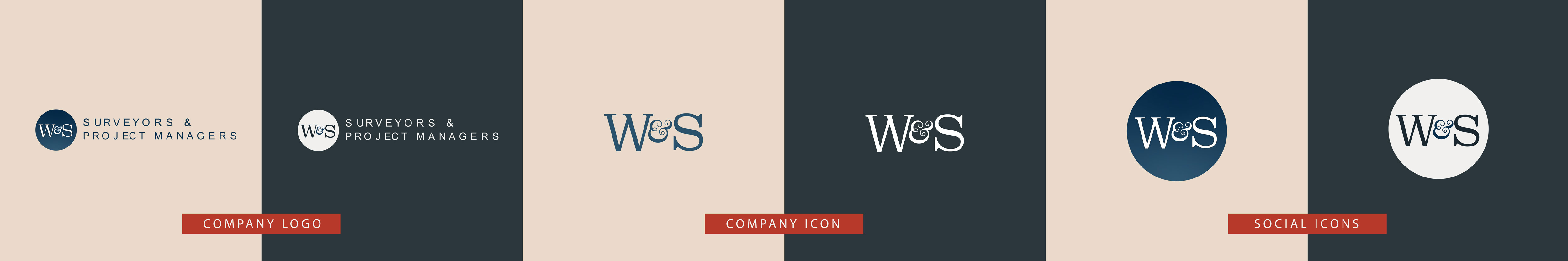 w and s surveyors brand identity image
