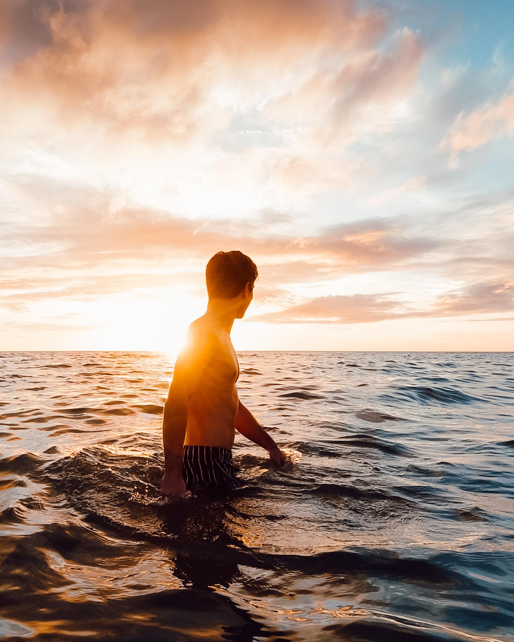 Sage Delaney in the ocean