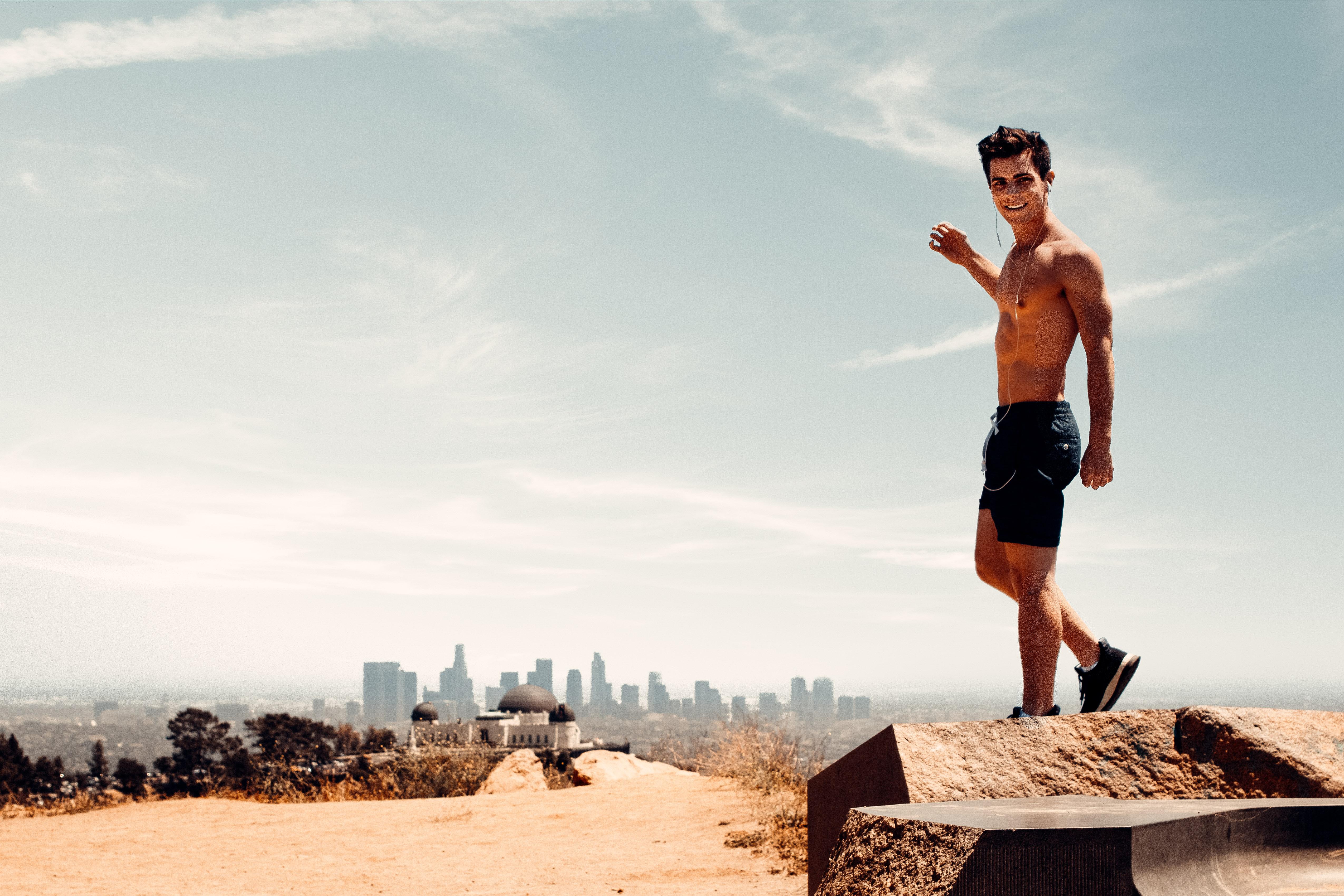 Sage Delaney in LA on top of Mount Hollywood