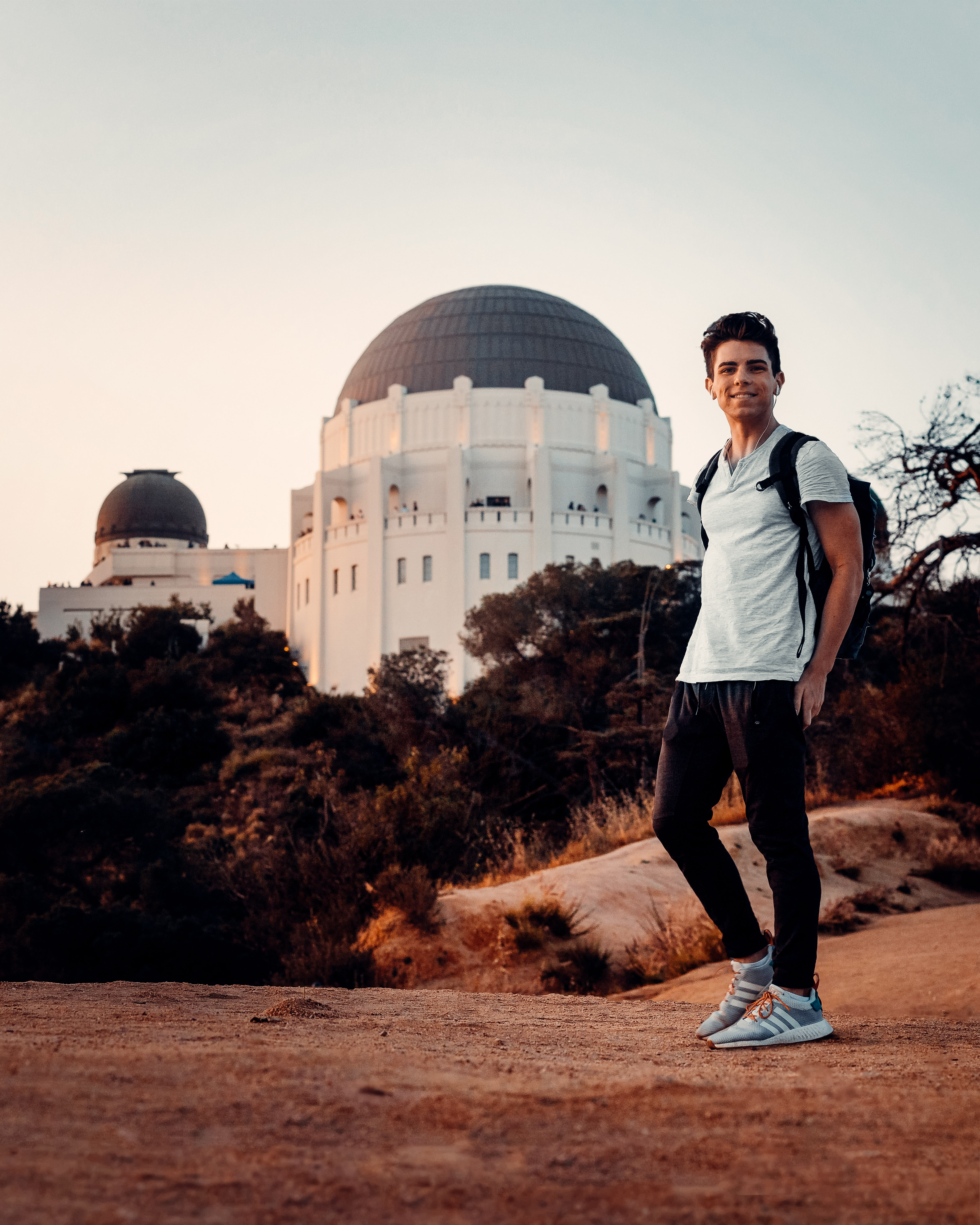 Sage Delaney in front of the Griffith observatory