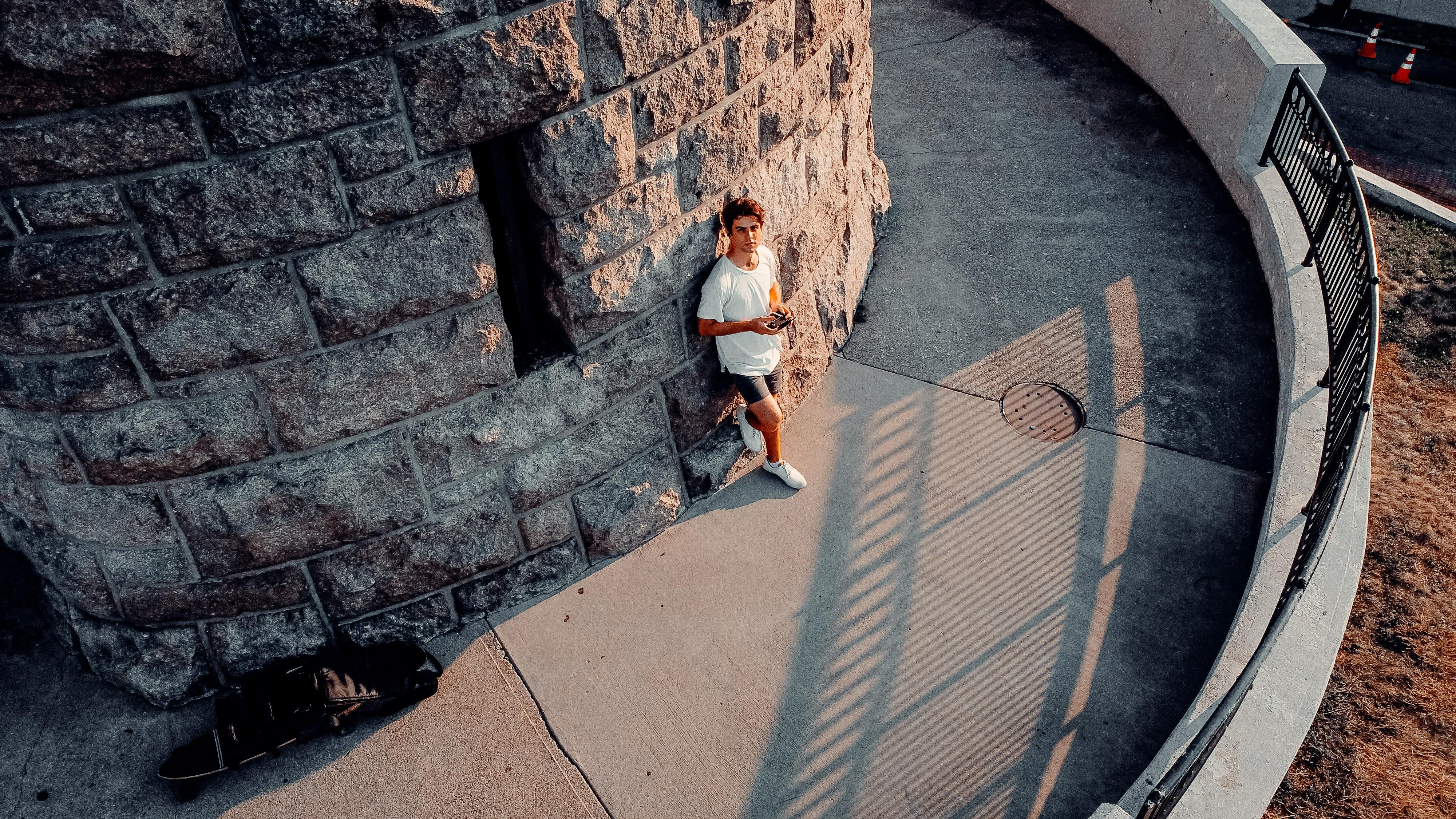Sage Delaney on the Boston castle drone shot