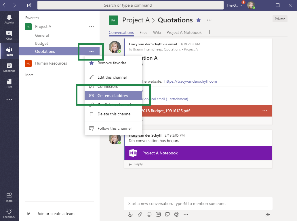 microsoft teams email