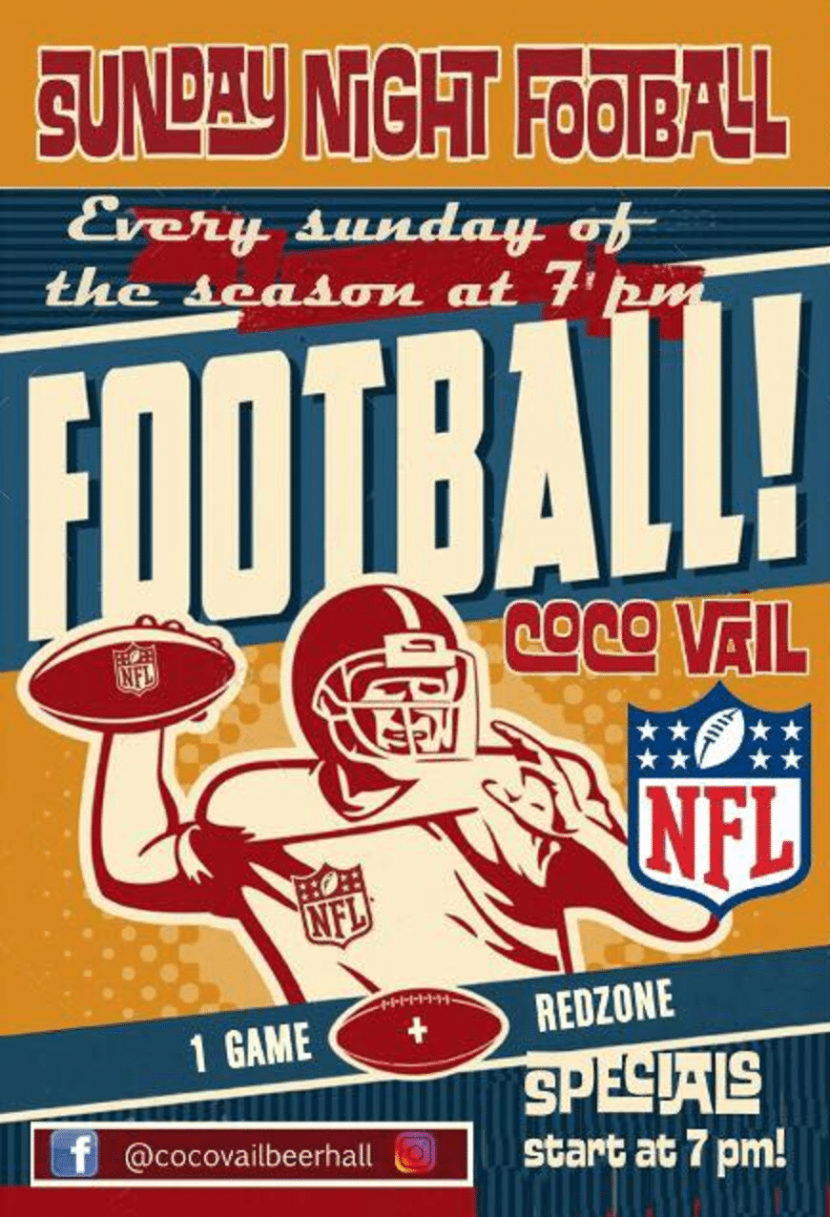 NFL in Barcelona Sundays at CocoVail Beer Hall