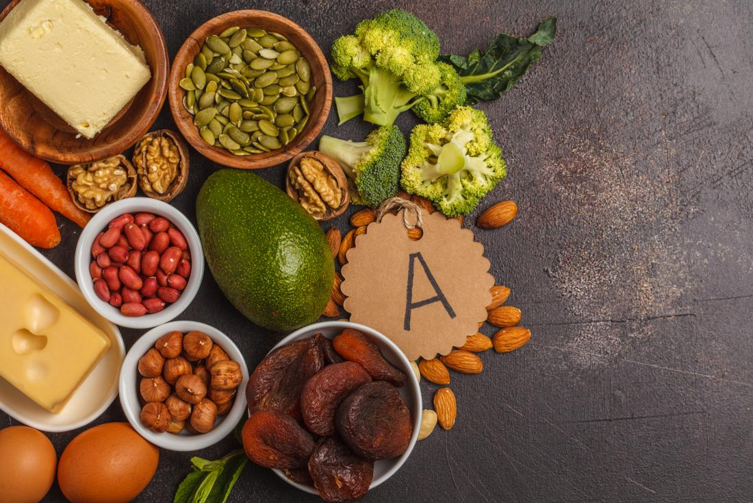 Treo chân mày nên ăn các loại thực phẩm giàu vitamin A