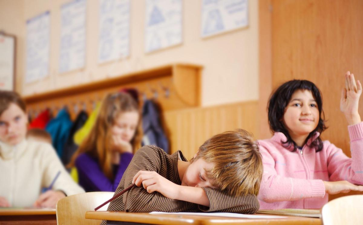 Excessive Daytime Sleepiness: A child sleeps in class