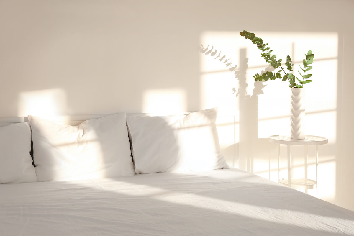 biological clock: bed with white sheets