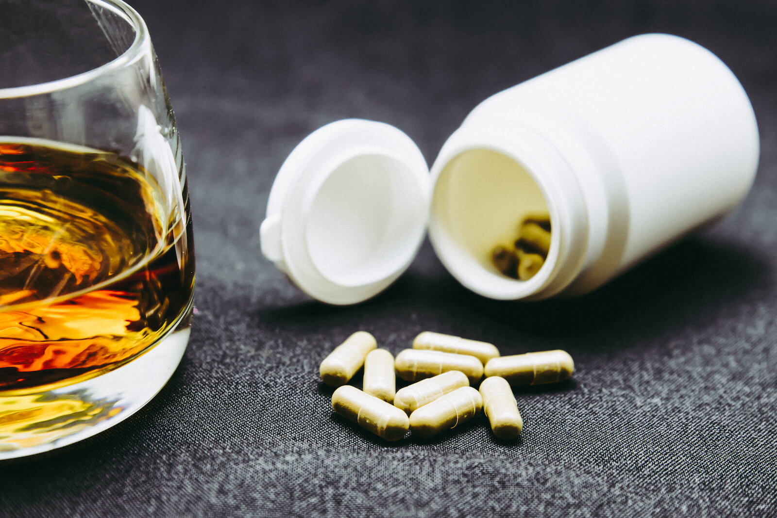 Falling asleep while driving: pills and alcohol