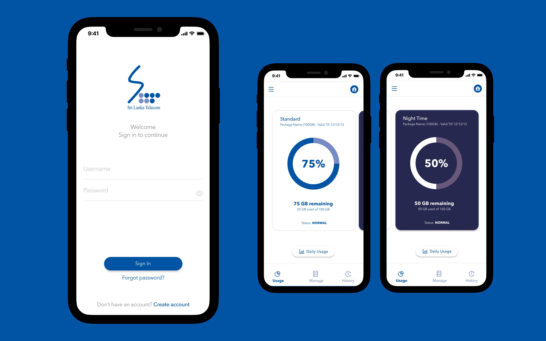 Redesign - SLT Broadband App
