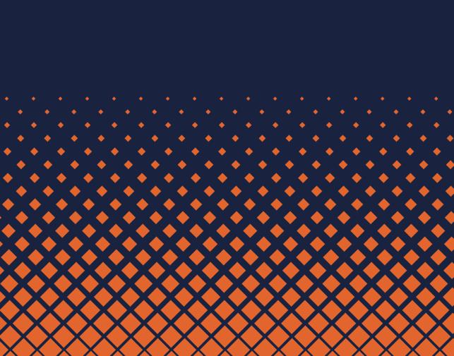 Coastal Cartage blue background orange dots