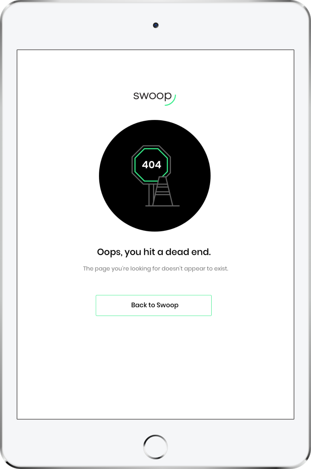 Swoop iPad Mockup