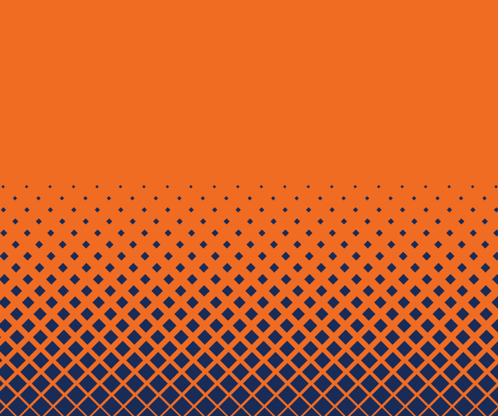 Orange background blue dots