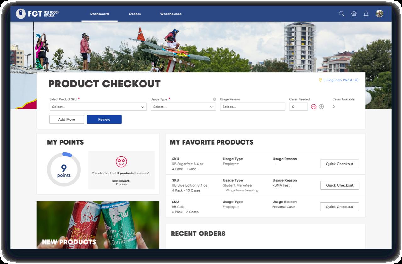 Red Bull FGT web app