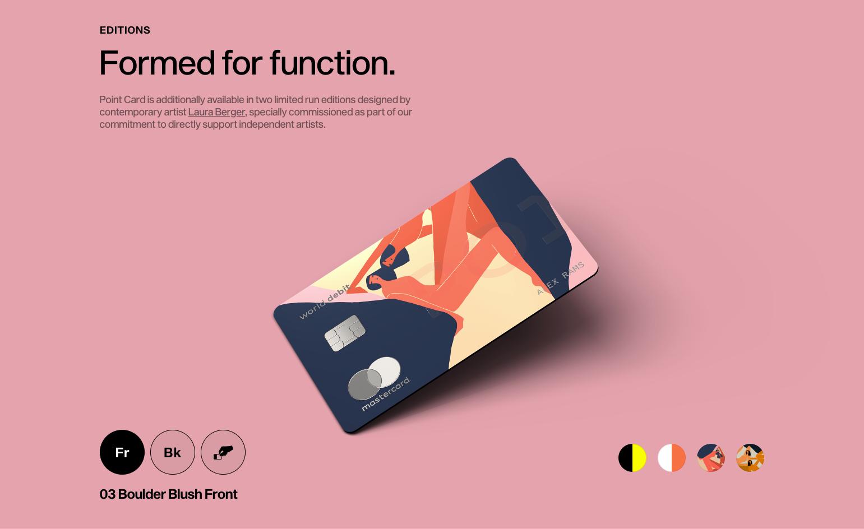 Pink Point card website mockup