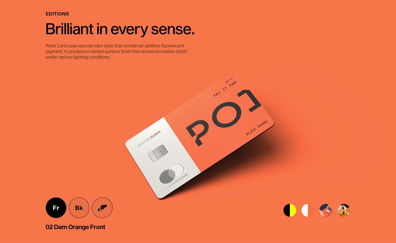 Orange Point card website mockup