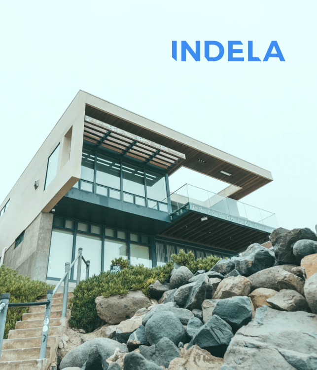 Indela front of the building