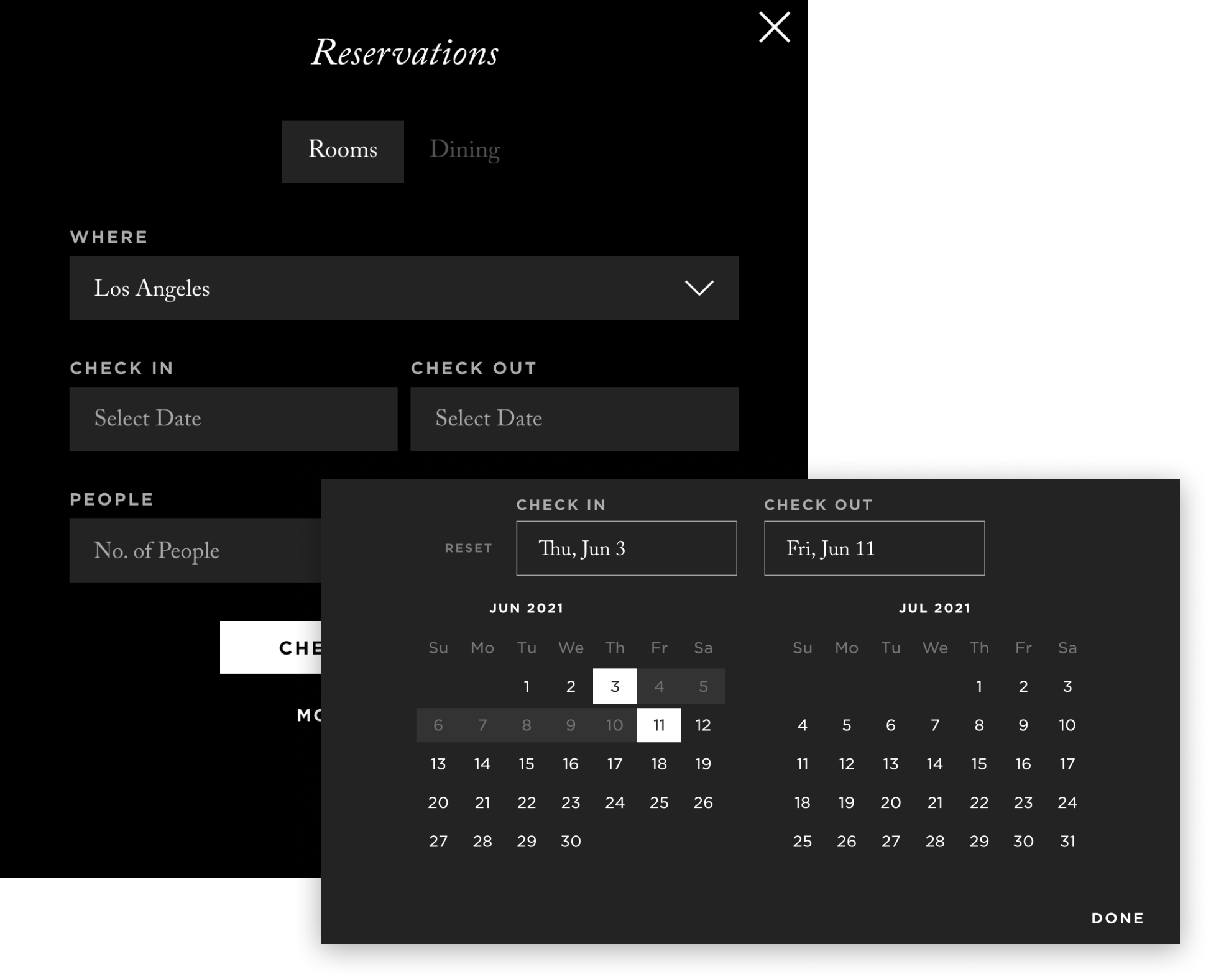 Booking hotel reservations