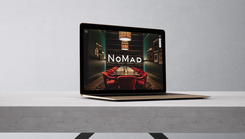 Macbook Pro mockup with Nomad website