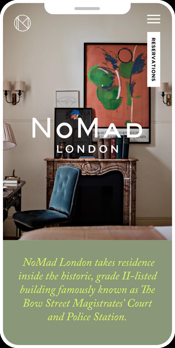 iPhone mockup of Nomad website