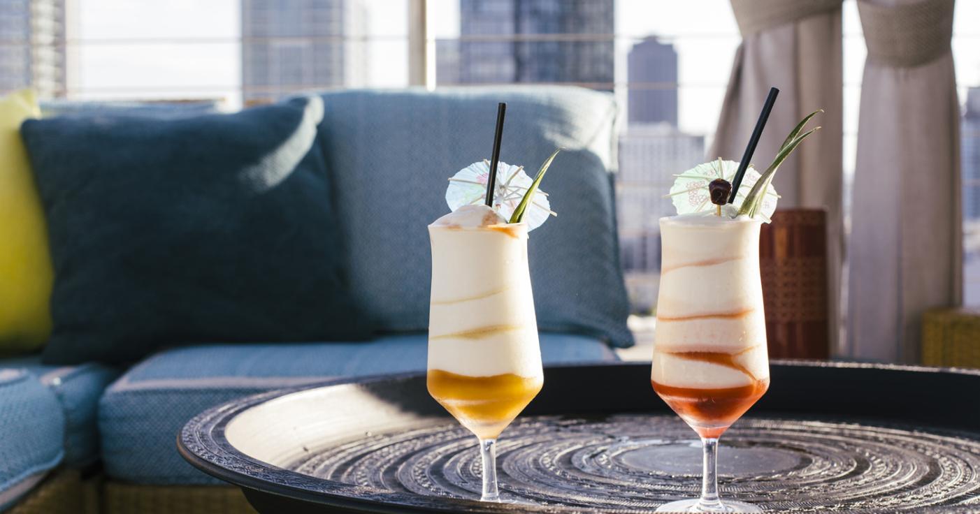 Cocktails inside Nomad hotel