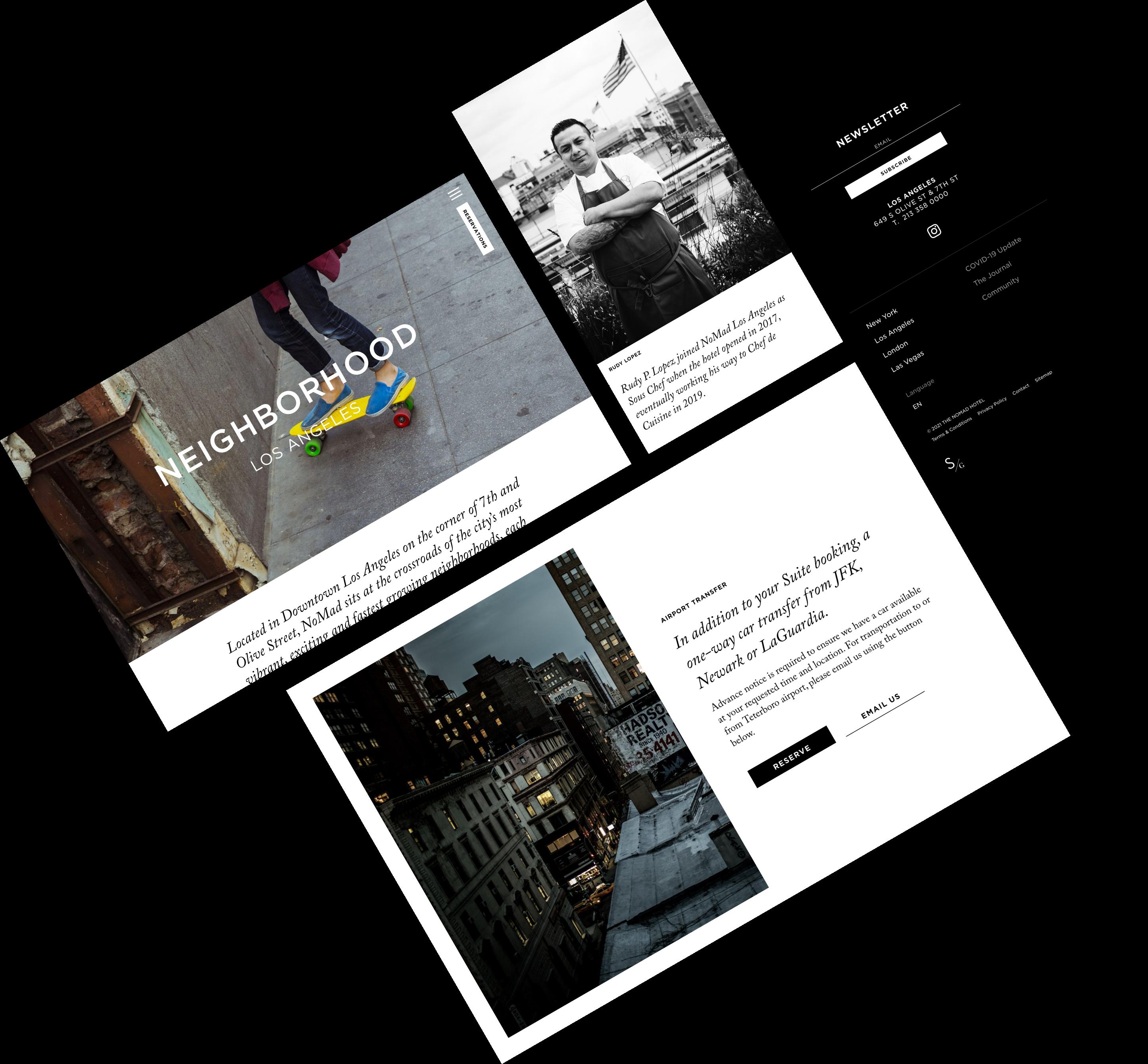 nomad parallax website mockup