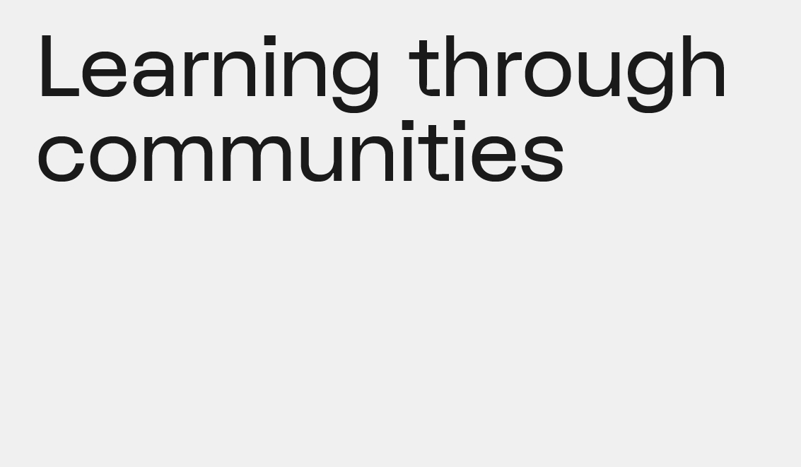 Learning through Communities