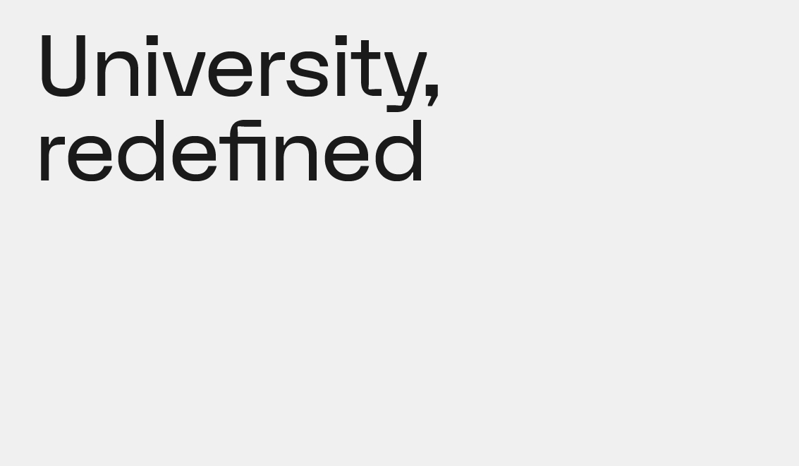 University, Redefined