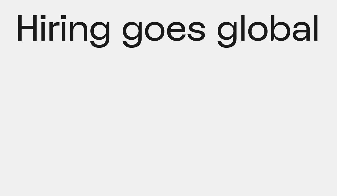 Hiring Goes Global