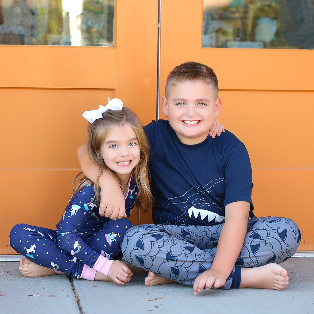 brand new pajamas for children in foster care