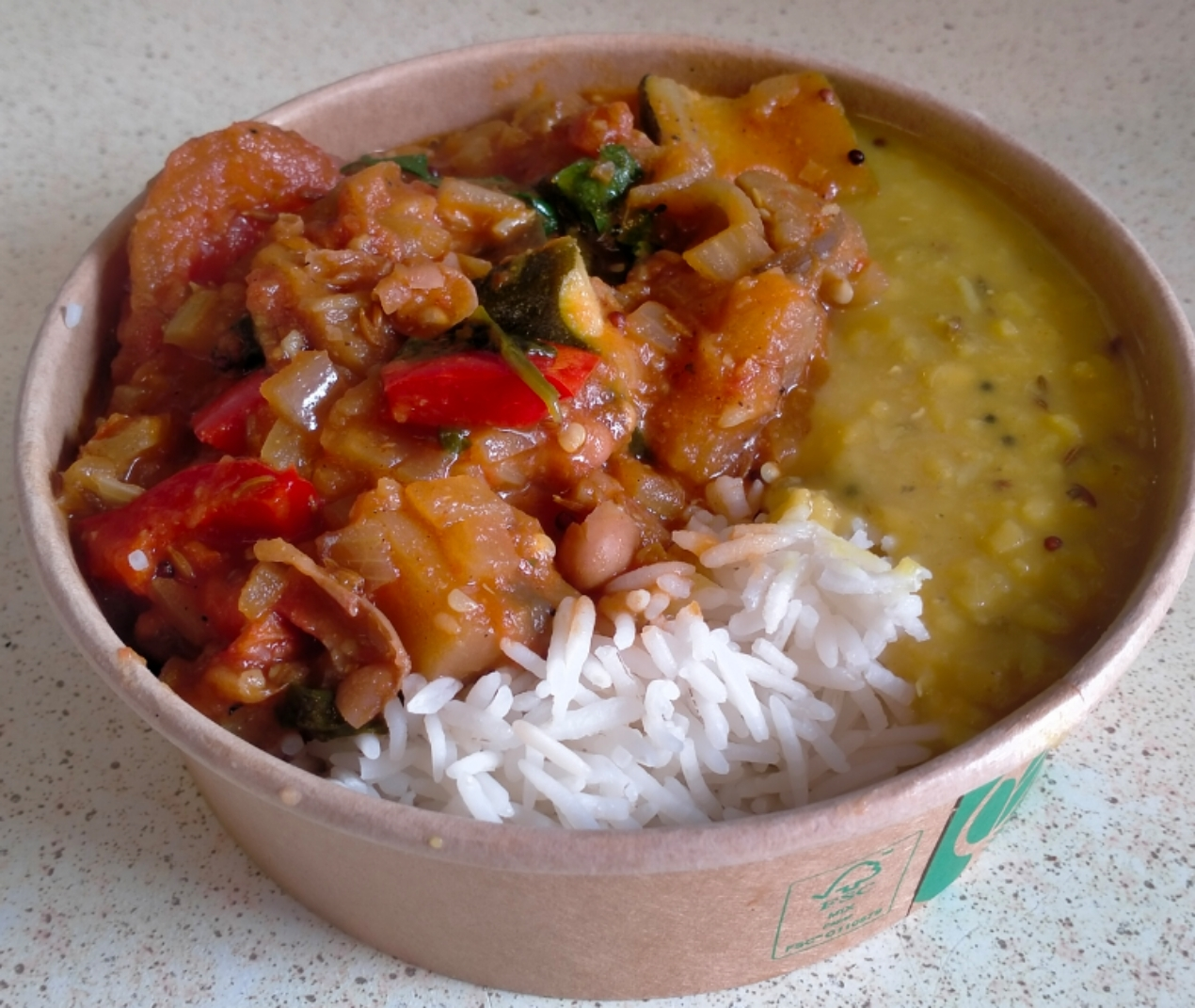 Borlotti bean & mixed vegetable curry