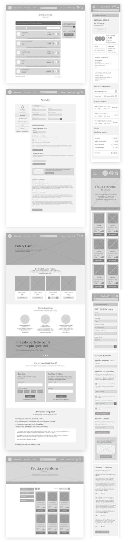 Examples of wireframes