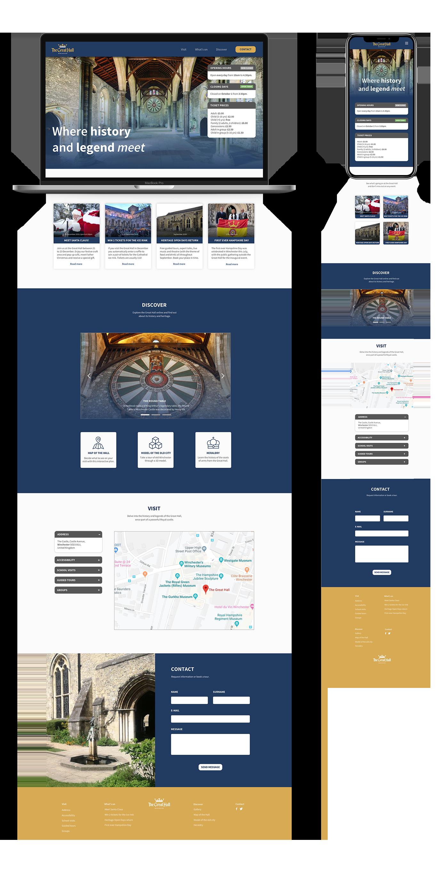 Website overview on mobile and desktop