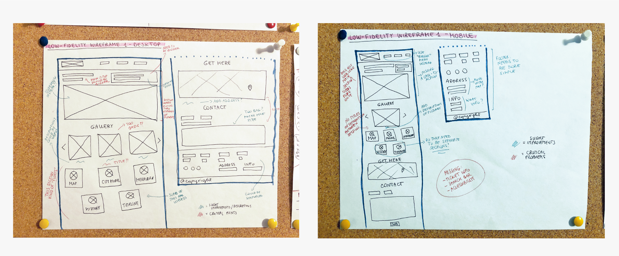 Wireframe on paper