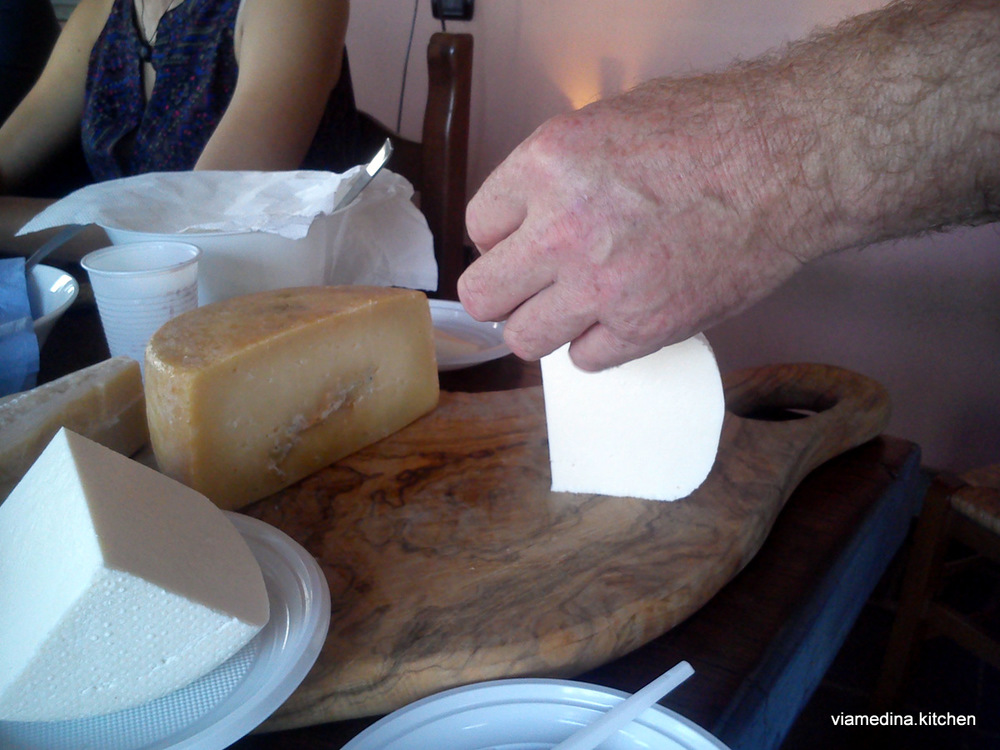 Francesco does tastings with different ages of cheese as well to show the differences in flavour profiles.